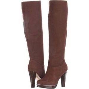 Cole Haan Nola Slouch Brown High Heel Boots 10
